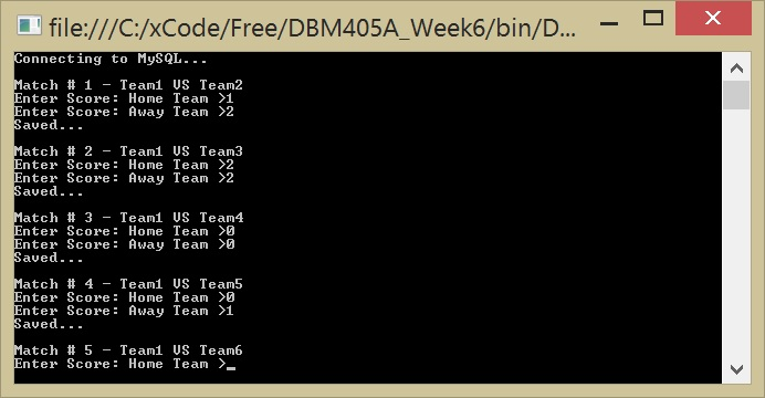 DBM405A Lab 6 –Stored Procedure HomeTeamScore and AwayTeamScore and event to backup db – Instant Delivery – Perfect Solution